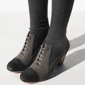 Rachel Comey Wool & Suede Lace Up Booties